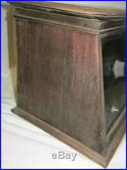 1920's Day Fan 5 Radio Wooden Case Battery Operated Tube Parts or Restore LQQK