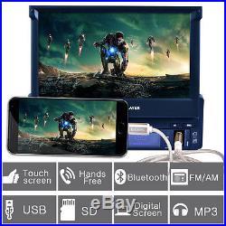 7 1DIN HD Touch Screen Car MP3 MP5 Player Bluetooth FM Radio + Rear View Camera