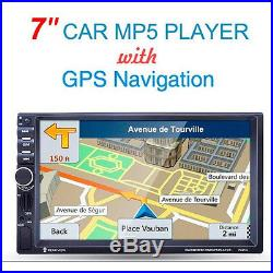 7''HD Bluetooth Touch Screen Car Stereo Radio 2DIN FM/MP5/USB/AUX GPS Navigation