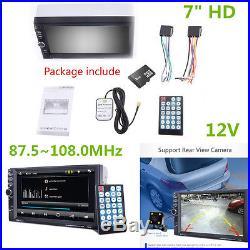 7 HD Car GPS Navigation 2 Din Car Bluetooth Stereo FM Radio MP5 Player AUX 2RCA