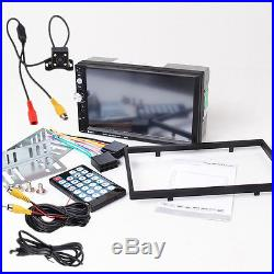 7023D 2Din 7Bluetooth HD Stereo Audio MP5 Car Radio PlayerRear View Camera Kit