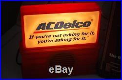 AC AM FM Delco Radio & key holder GM Chevy accessory promo 70s 60s Nos vintage