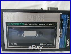 AIWA HS-T02 Cassette Player Walkman Portable Radio Vintage For parts or repair