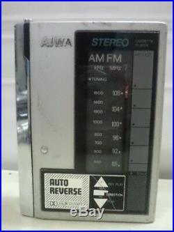 Aiwa Walkman Radio HS U 07 Vintage Japan Metal cassette player for parts or repa