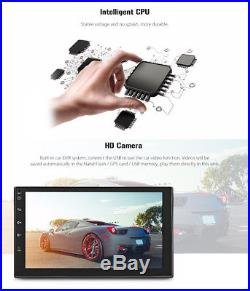 Android 6.0 7'' 2DIN TFT Capacitive Touch Screen WIFI Car Stereo Radio +GPS Navi