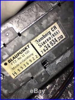 BLAUPUNKT BAMBERG CR STEREO Vintage Classic Car FM Radio Cassette +MP3 MIC BOOKS
