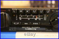 Becker Europa Vintage AM/FM Radio Cassette 663 Shortwave AUX Input Like 599 EURO