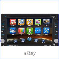 Car Video Player 6.2 Touch 2-DIN Car In-Dash Radio Bluetooth DVD CD Player GPS