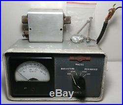 Collins 302C-3 Directional Watt Meter Wattmeter, Rare Vintage Ham Radio PARTS