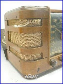 Crosley 66TC Vintage old wood antique tube radio As Is Parts Repair