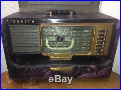 Custom Zenith Short Wave Radio Wave Magnet Trans-Oceanic Vintage Parts or Repair