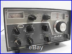 Drake R-4B Vintage Tube Ham Radio Receiver for Parts / Restoration SN 9874C