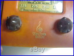 EMERSON Vintage BAKELITE CATALIN Art Deco RADIO Restore or Parts