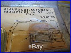 Estate Vintage Tube Blaupunkt Autoradio Frankfurt Tr De Luxe 32471 Car Radio