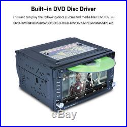 GPS Navigation Map 6.2HD 2DIN In Dash Car Stereo DVD Player Bluetooth Radio RDS