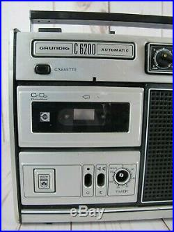 Grundig C6200 Automatic Vintage Cassette Radio Recorder For Parts or Repair