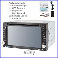 HD Car MP3 DVD Dash Player Stereo Bluetooth AM FM Radio Double DIN USB GPS Maps