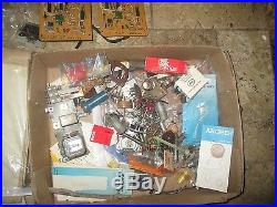 HUGE Vintage Electronic Parts LOT TRANSISTORS, CAPACITORS
