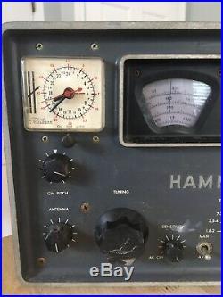 Hammarlund Model HQ-110A Vintage Ham Radio Receiver for Parts or Repair