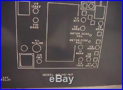 Hammarlund Vintage HQ 160 Ham Radio Tube Receiver SN 1033 video, for Parts