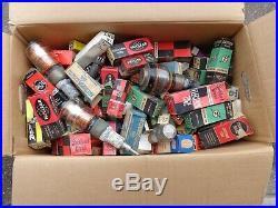 Huge Lot of Vintage Radio TV Vacuum Tubes Mixed Brands NOS Loose Used Parts