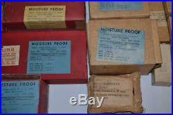 Huge Vintage Lot US Military Radio Spare Parts Lot NEW OLD STOCK