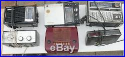 LOT of 6 Antique Vintage Radio Most Working Some Parts LLOYD'S Panasonic GE MORE