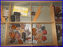 Lot Vintage Tube Amplifier/Radio Parts High Voltage Capacitors, Coils, Sangamo