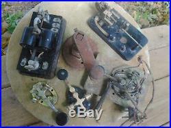 Lot of 5 Vintage Telegraph Morse code Key relay Ham radio For Parts or Repair