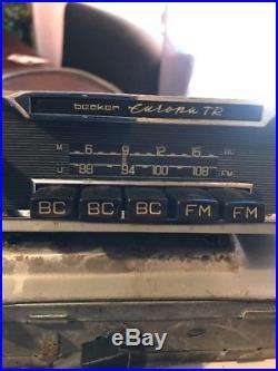 Mercedes Benz Becker Europa Tr Rare Vintage Radio