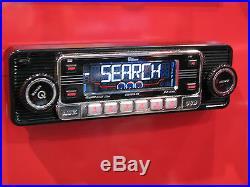 NEW Car Stereo Radio Vintage 70's Style AM FM iPOD & USB Inputs Bluetooth & CD