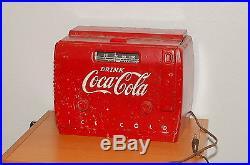 ORIGINAL VINTAGE COCA COLA COOLER AM RADIO / MODEL 5A410A Parts or