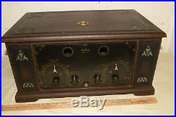 PARTS/REPAIR Antique DEFOREST D-17 RADIO Wooden Cabinet Chassis Knobs 1920s VTG