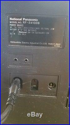 Rare! Vintage Shortwave Radio! National Panasonic Rf 5410db For Parts/repair