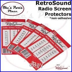 RetroSound SCP-05 Radio Vintage Look Dial/Screen Protector Blaupunkt/Becker/Euro