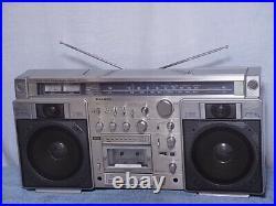 SANYO MR-X920 Cassette Radio Boom Box vintage Parts Or Repairs