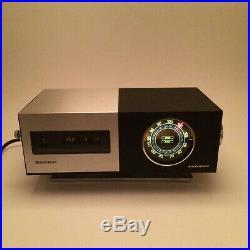 Sharp FXC-34 Vintage Flip Clock Radio Alarm Mid-Century Modern (For Parts)