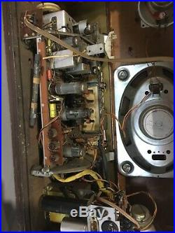 Telefunken Allegro Hi-Fi System German Stereo Tube Radio Vintage For Parts