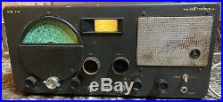 The Hallicrafters Co Model S-40 Radio Receiver Ham AM CW Vintage Parts/Repair