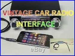 Upgraded classic car radio Interface Motorola Radiomobile and vintage car radio