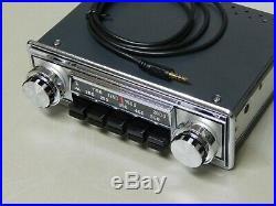 Upgraded vintage classic car radio RADIOMOBILE 1085 aux in