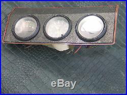 VDO CLOCK Vintage Center Dash Gauge Switch Panel 60's E Type MK II Smiths Lucas