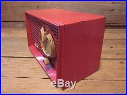 VINTAGE ARVIN Red Bakelite RADIO PARTS ONLY