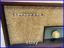 VINTAGE TELEFUNKEN JUBILATE TEAK RADIO 1261 German Germany UNTESTED PARTS ONLY