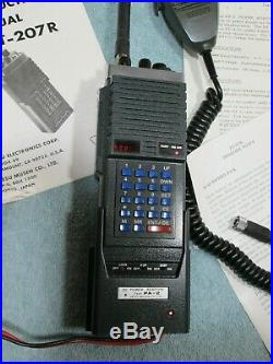 VINTAGE YAESU FT-207R (parts/repair) 2 meter VHF ham radio with adapter + manual
