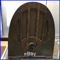 Vintage 1930's Philco Jr. Wooden Radio For Parts
