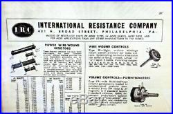 Vintage 1930s 40s IRC Radio Store Display Sign Parts Box Pre War Advertising
