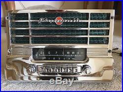 Vintage 1949 1950 Plymouth Push Button Car Radio Chrome Post