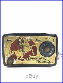 Vintage 1950's Arvin Hopalong Cassidy Tube Radio Restore or Parts -4372