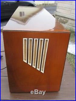 Vintage 1950s Large Telefunken Super Opus 8 Tube Radio for Parts or Repair